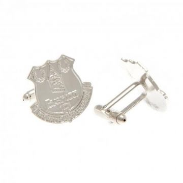 Everton Silver Plated Formed Cufflinks